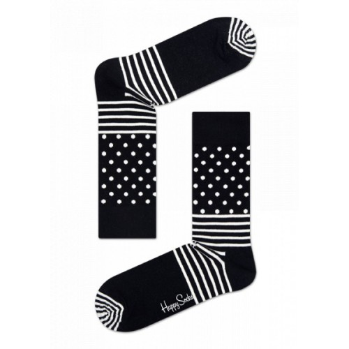 stripe dot socks negro