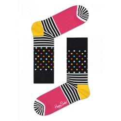 stripe dot socks multicolor