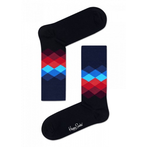 faded diamond socks negre